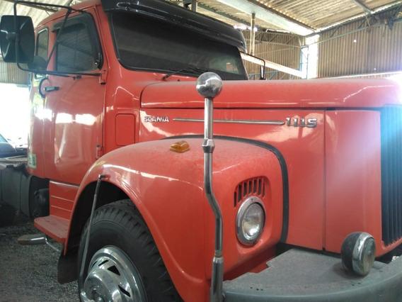 Caminhão Scania L111 4x2 Com Motor Feito Ano 1980