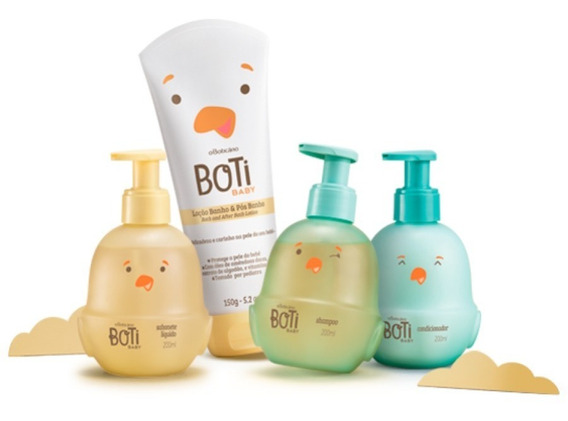 Kit Boti Baby Colônia Sol + Loção + Shampoo + Condicionador