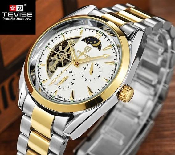Relógio Tevise Masculino Luxo Automático Bem Conservado