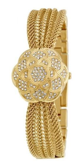 Relógio Anne Klein Pulseira De Aço Inoxidável Multi-cadeia