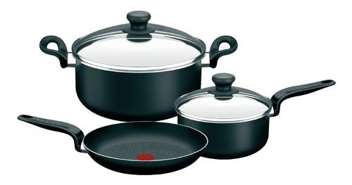 Imagen 1 de 3 de Bateria De Cocina Tefal Pratika 5 Piezas Tienda Oficial