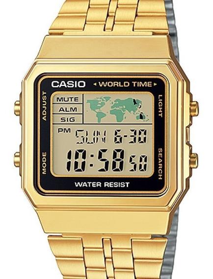 Relógio Casio Unissex Vintage Dourado - A500wga-1df