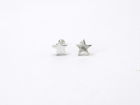 Arete Plata Estrella 925 Para Dama Regalo 10 Mayo 14 Febrero
