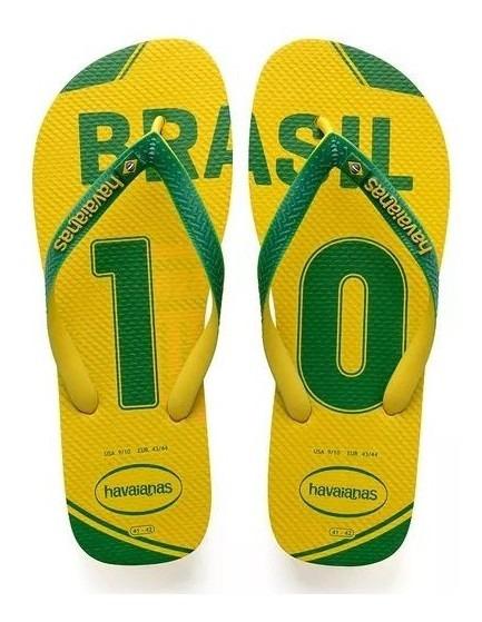 Havaianas Teams Brasil Amarela E Verde Rcr Games
