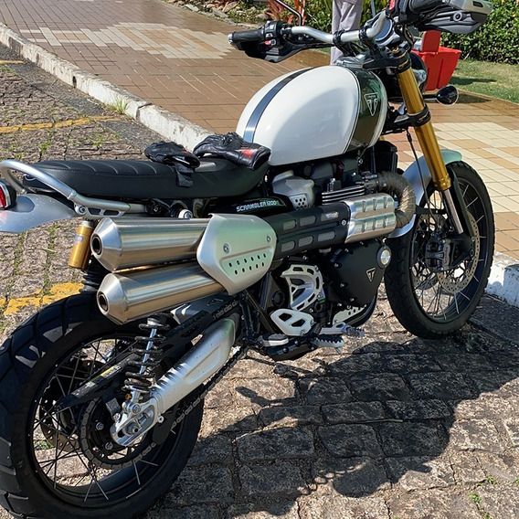 Triumph Scrambler 1200 Xe Branca Sem Detalhes 1500km