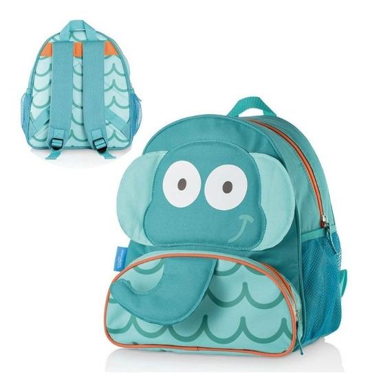 Mochila Escolar Pequena Azul Multikids Elefante Bb233 Azul