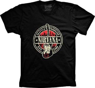 Camiseta Nirvana Vários Tams. Plus Size G1 G2 G3 G4