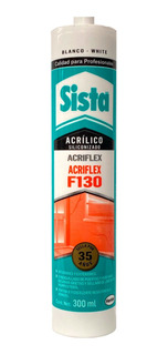 Silicon Acrilico Blanco 300ml F130 Sista