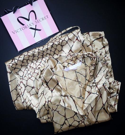 Victorias Secret Pijama Satin Grande Estampada Importada
