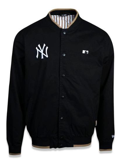 Jaqueta Varsity New York Yankees Mlb Preto Marinho New Era