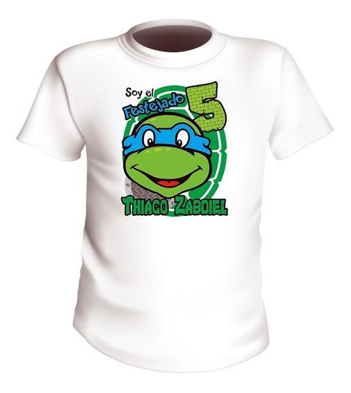 Playeras Tortugas Ninja Infantiles Personalizadas