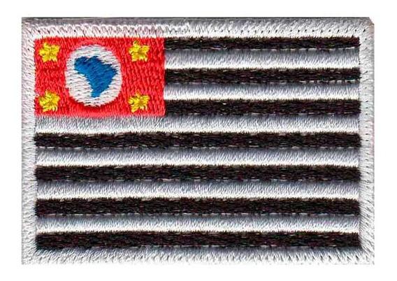 Bordado Patch Termocolante Bandeira De São Paulo Bd50036