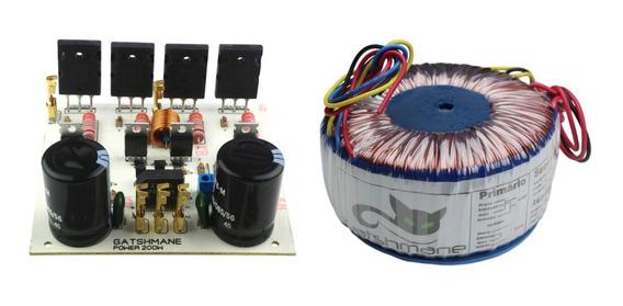 Placa Amplificador 200w Mono Com Fonte Com Transformador