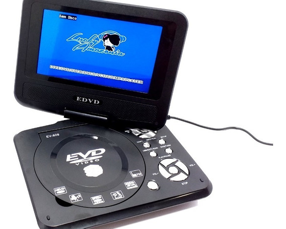 Dvd Portátil Player Evd Hd-808 Tela 8.8 Pol Jogos Game