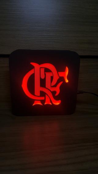 Luminária Abajaur Lanterna Led - Flamengo