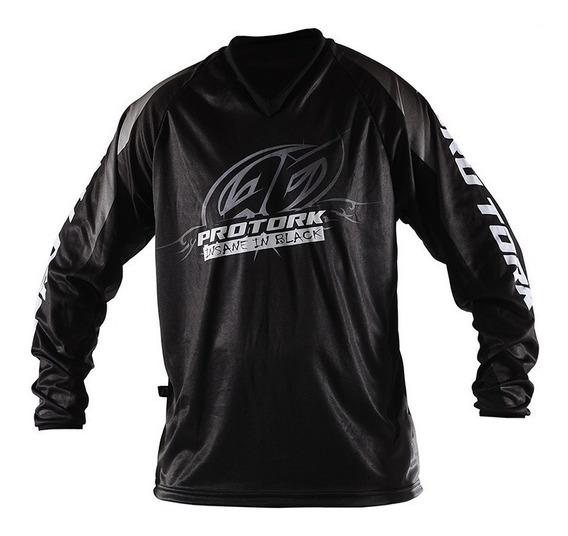 Remera Motocross Insane In Black Pro Tork® Niño Sportbay