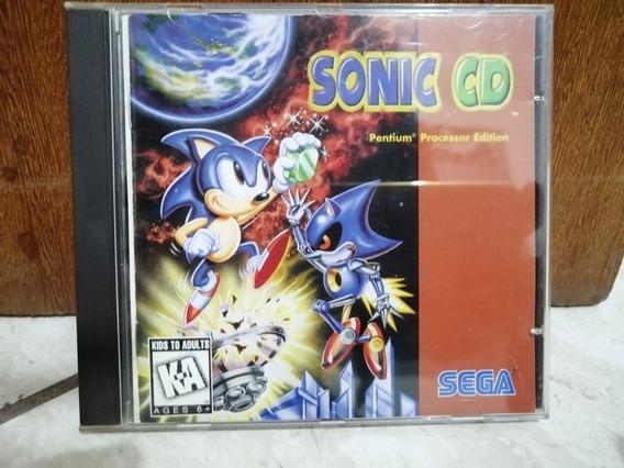 Sonic Cd Pc Original Cd Rom Sega