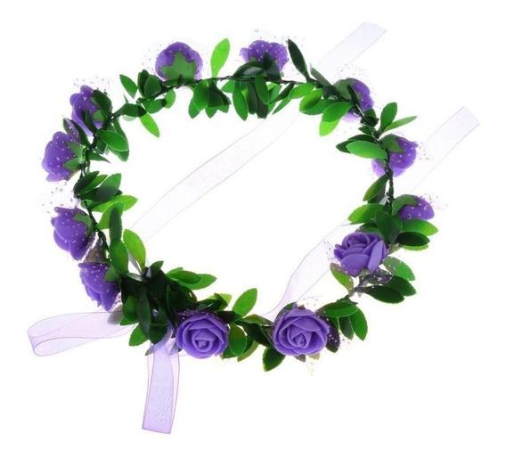 1 Tiara / Coroa De Flores Enfeite De Cabelo Noiva