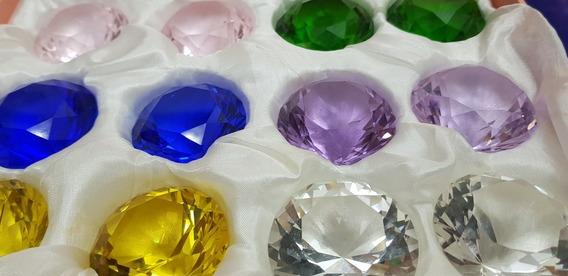 Pedras Cristais Lapidados Diamante Decoração Kit Completo