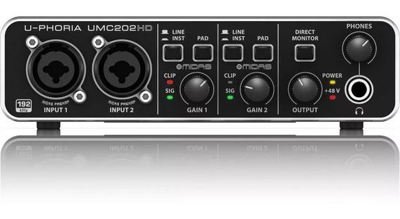Placa Interface De Audio Behringer Umc 202hd U-phoria 202 Hd