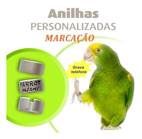 Anilha Personalizada Marcação 10mm Papagaio Filhote