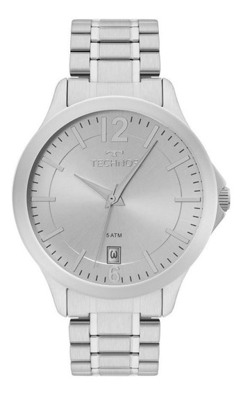 Relógio Technos Masculino Ref: 1s13cg/1k Classic Prata