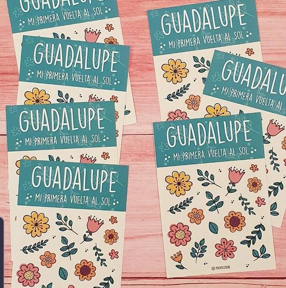 24 Planchas Etiquetas Souvenir Cumpleaños Nacimiento 9x13cm