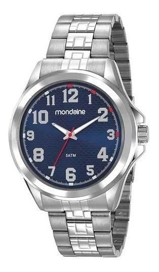 Relógio Mondaine C/ Caixa E Pulseira Em Aço