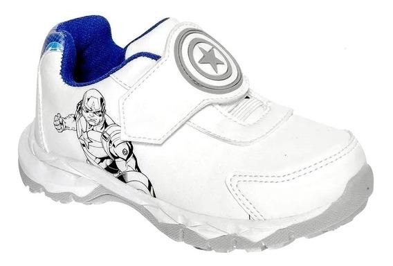 Tenis Vengador Capitan America Zeus Blanco Escolar Sintético