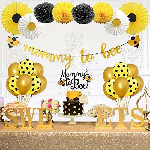 Imagen 1 de 7 de Fiesta Inspo Mami Para Abeja Baby Shower Decoraciones Sumini