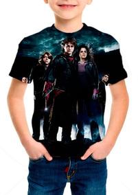 Camiseta Infantil Harry Potter E O Cálice De Fogo M01