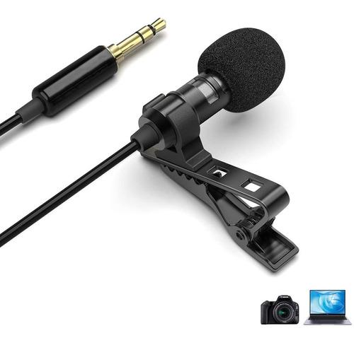 Microfono 5m Lavalier Trs Camara Dslr Nikon Canon Sony Pc
