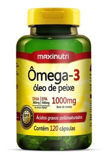 Ômega 3 Óleo De Peixe 1000mg - 120 Cápsulas - Maxinutri