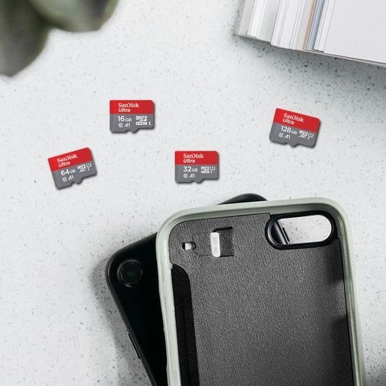 Cartao De Memória Microsd 64gb Sandisk Ultra Rapido 100mbs