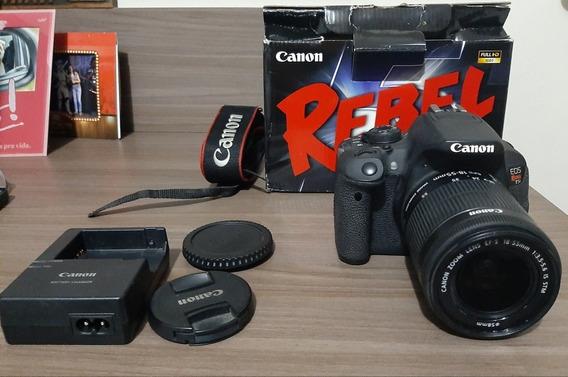 Canon T5i + Lente 18-55mm Usada - Frete Grátis