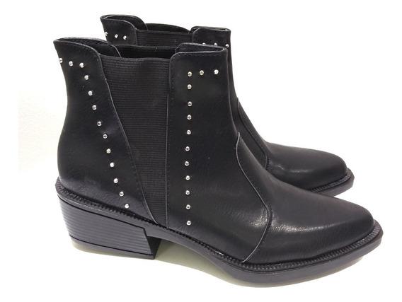 Zapatos Botinetas Texanas Charritos Mujer Moda Simil Cuero