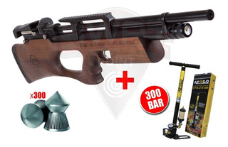 Rifle Pcp Kral Breaker W Madera Bullpup Regulable + Inflador