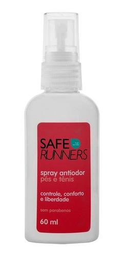 Safe Runners Spray Antiodor Para Pés Tenis E Capacete
