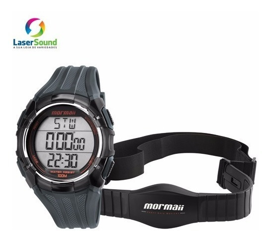 Relógio Mormaii Monitor Cardíaco Mo11558a/8r, C/garant E Nf