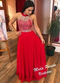 c5101a7b5 Vestidos De Quince Años Rojo Con Mangas - Vestidos L en Mercado ...