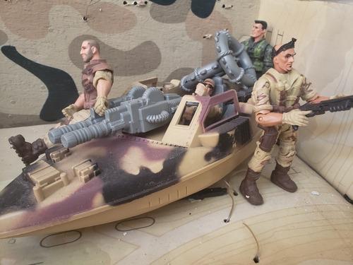 Juguetes Naves Anfibios Soldados Soldaditos Y Helicóptero.