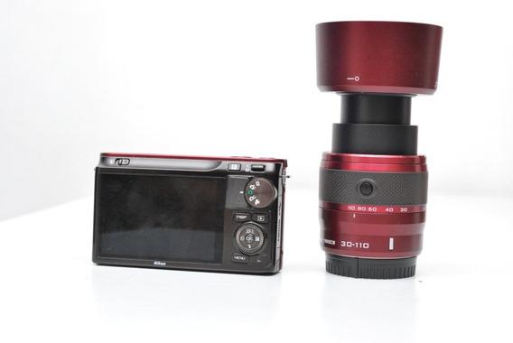 Câmera Nikon J2 C/ 10-30 E 30-110 Mm