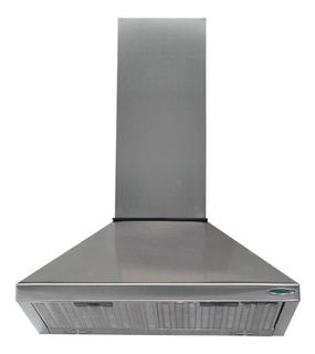 Campana Cocina Piramide Led 60 Acero Motor 2turbina 1000m3