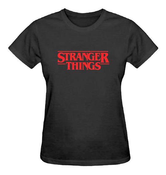Camiseta Baby Look Feminina Stranger Things Serie Camisa