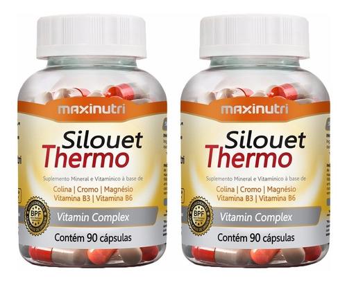 2 Silouet Thermo - 90 Cápsulas - Maxinutri # Termogênico