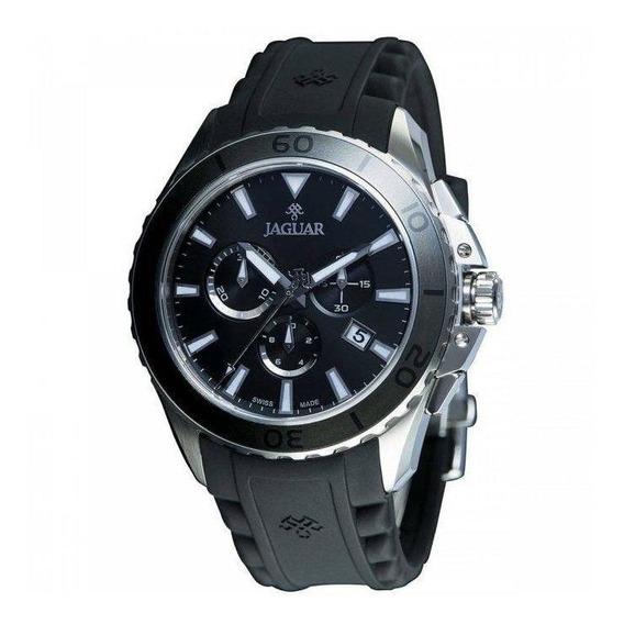 Relógio Jaguar J01casp01 P1px Mostrador Preto Pulseira Preta
