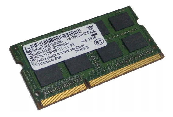 Memória Ram 4gb Ddr3 1600mhz Notebook Smart Pc3l