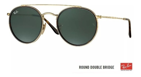 Oculos De Sol Ray Ban Double Bridge Verde Classic Rb3647