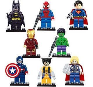 Super Heroes Marvel Figuras Capitán Americano El Hulk Spider