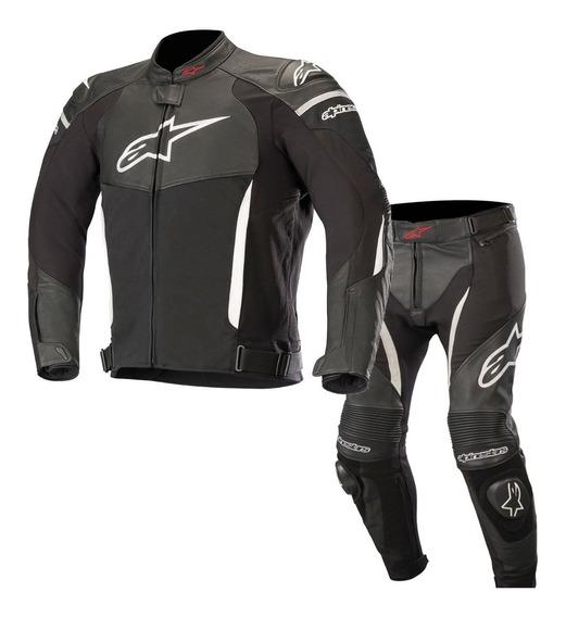 Conjunto Couro Alpinestars Sp-x Jaqueta E Calça Moto